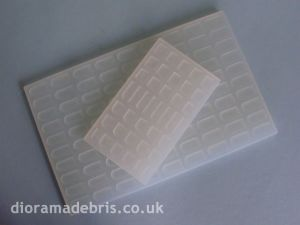 1:35 Scale Beaver Tail Roof Tiles Moulds (1350059)